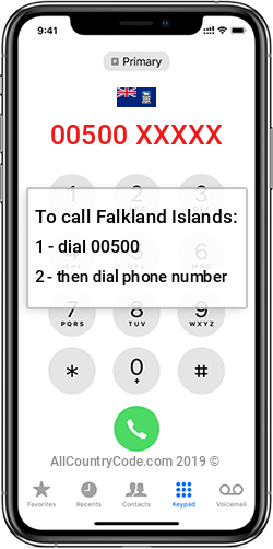 Falkland Islands 500 Country Code FK FLK