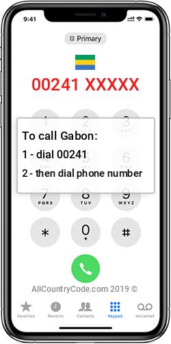 Gabon 241 Country Code GA GAB
