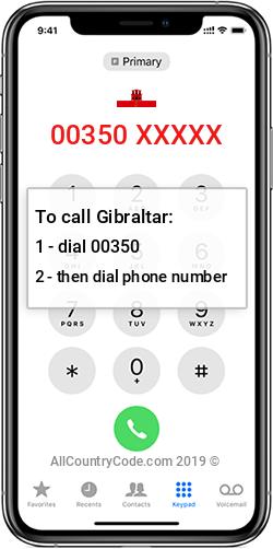 Gibraltar 350 Country Code GI GIB