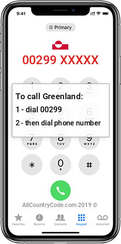 Greenland 299 Country Code GL GRL