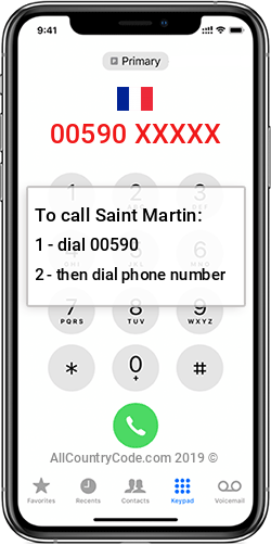 Saint Martin 590 Country Code MF MAF