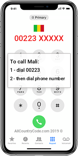 Mali 223 Country Code ML MLI