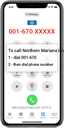 Northern Mariana Islands 1-670 Country Code MP MNP