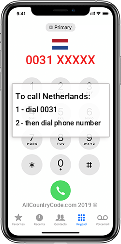 Netherlands 31 Country Code NL NLD
