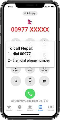 Nepal 977 Country Code NP NPL