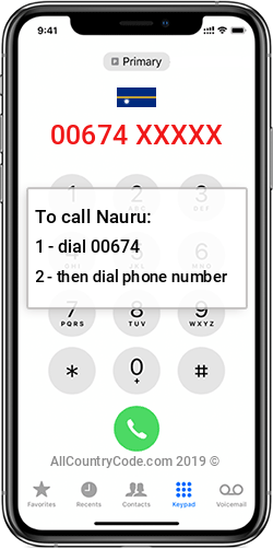 Nauru 674 Country Code NR NRU