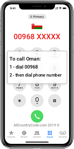 Oman 968 Country Code OM OMN