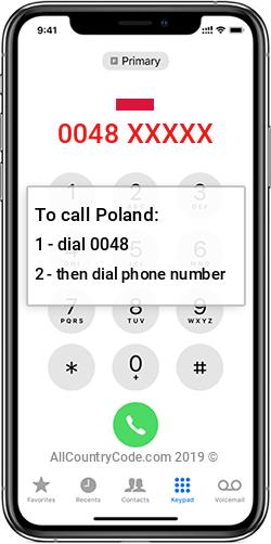 Poland 48 Country Code PL POL