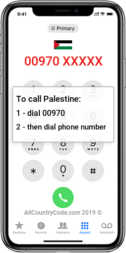Palestine 970 Country Code PS PSE