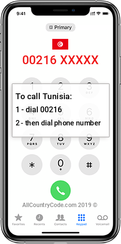 Tunisia 216 Country Code TN TUN