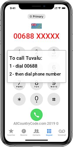 Tuvalu 688 Country Code TV TUV