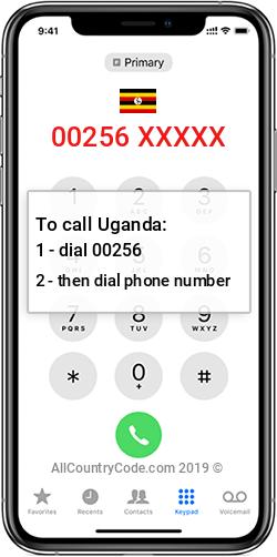 Uganda 256 Country Code UG UGA