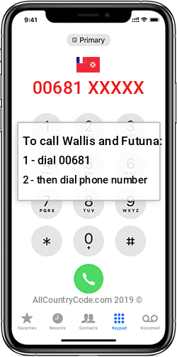 Wallis and Futuna 681 Country Code WF WLF