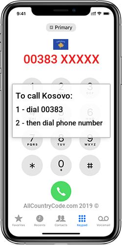 Kosovo 383 Country Code XK XKX