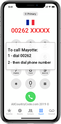 Mayotte 262 Country Code YT MYT