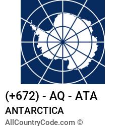 Antarctica Country and phone Codes : +672, AQ, ATA