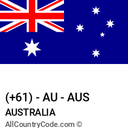 Australia Country and phone Codes : +61, AU, AUS