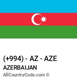 Azerbaijan Country and phone Codes : +994, AZ, AZE