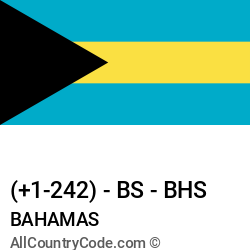 Bahamas Country and phone Codes : +1-242, BS, BHS