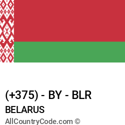 Belarus Country and phone Codes : +375, BY, BLR