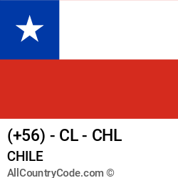 Chile Country and phone Codes : +56, CL, CHL