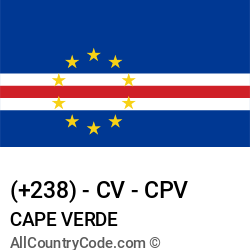 Cape Verde Country and phone Codes : +238, CV, CPV