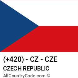 Czech Republic Country and phone Codes : +420, CZ, CZE