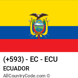 Ecuador Country and phone Codes : +593, EC, ECU