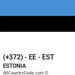 Estonia Country and phone Codes : +372, EE, EST