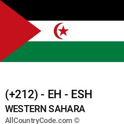 Western Sahara Country and phone Codes : +212, EH, ESH
