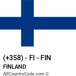 Finland Country and phone Codes : +358, FI, FIN