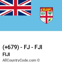 Fiji Country and phone Codes : +679, FJ, FJI