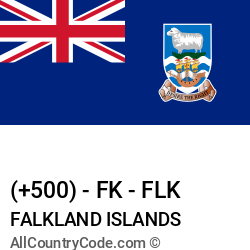 Falkland Islands Country and phone Codes : +500, FK, FLK