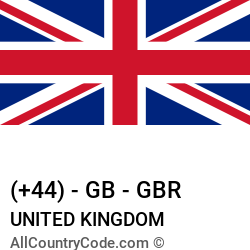 United Kingdom Country and phone Codes : +44, GB, GBR