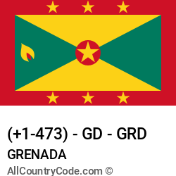 Grenada Country and phone Codes : +1-473, GD, GRD