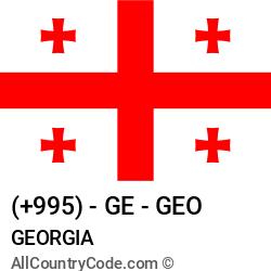 Georgia Country and phone Codes : +995, GE, GEO