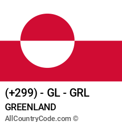Greenland Country and phone Codes : +299, GL, GRL