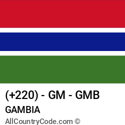 Gambia Country and phone Codes : +220, GM, GMB