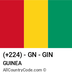 Guinea Country and phone Codes : +224, GN, GIN