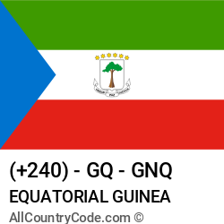Equatorial Guinea Country and phone Codes : +240, GQ, GNQ
