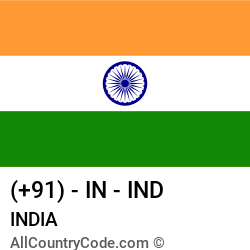 India Country and phone Codes : +91, IN, IND