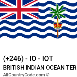 British Indian Ocean Territory Country and phone Codes : +246, IO, IOT