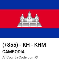 Cambodia Country and phone Codes : +855, KH, KHM