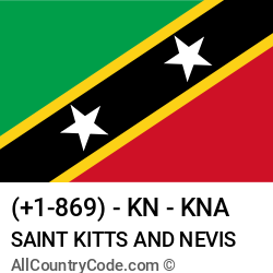 Saint Kitts and Nevis Country and phone Codes : +1-869, KN, KNA