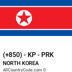 North Korea Country and phone Codes : +850, KP, PRK