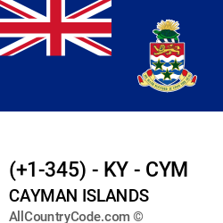 Cayman Islands Country and phone Codes : +1-345, KY, CYM
