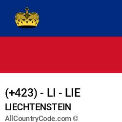 Liechtenstein Country and phone Codes : +423, LI, LIE