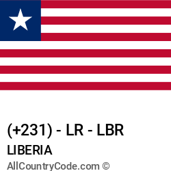 Liberia Country and phone Codes : +231, LR, LBR