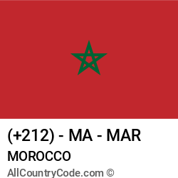 Morocco Country and phone Codes : +212, MA, MAR