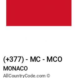 Monaco Country and phone Codes : +377, MC, MCO